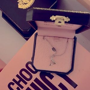 """NWOT Silver """"A"""" Necklace - Juicy Couture"""